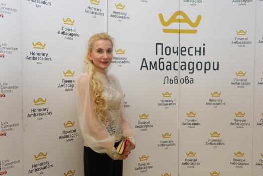 (Українська) Ірина Сенюта – Почесна Амбасадорка Львова – отримала відзнаку Національної асоціації адвокатів України