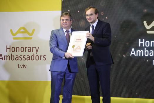 Let us present Andrii Nakonechnyi – Lviv Honorary Ambassador