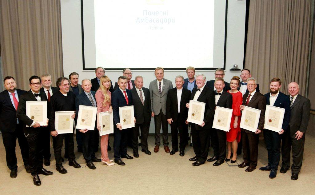 4 scientists, 3 doctors, CEO of IT company and art director of jazz festival became Lviv Honorary Ambassadors for 2017-2019
