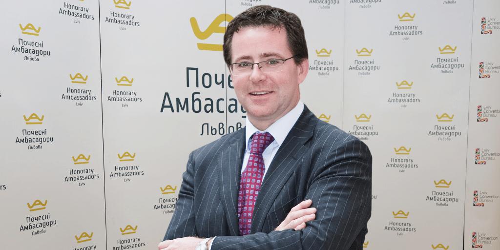 Стівен Батлер, Почесний Амбасадор Львова, організував вебінар для банкірів