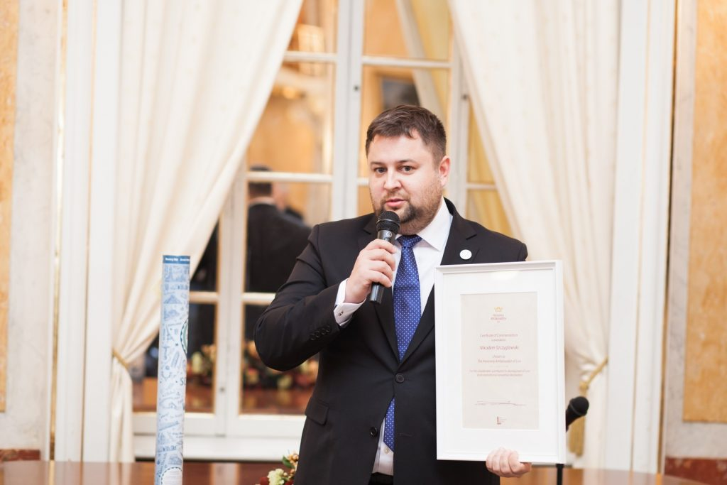 LVIV HONORARY AMBASSADOR NIKODEM SZCZYGLOWSKIGOT AN AWARD IN OPINION JOURNALISM